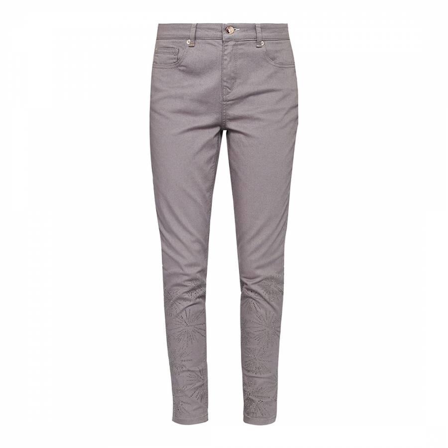 bcc5877df Light Grey Raelynn Stardust Embellished Skinny Jeans - BrandAlley
