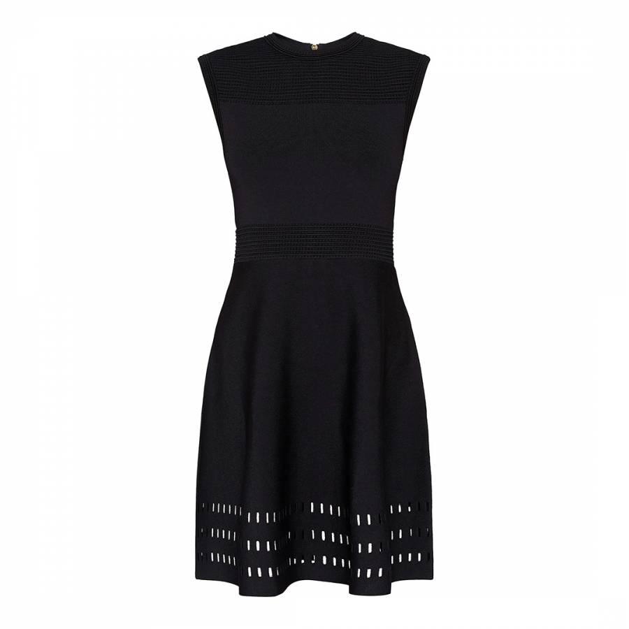 798fd7fbc753a Black Aurbray Knitted Skater Dress - BrandAlley