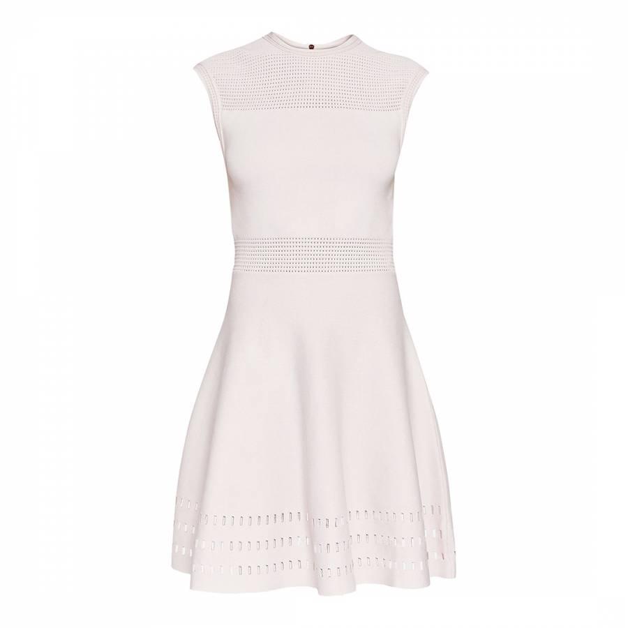 0766c4d0b3db8 Nude Pink Aurbray Knitted Skater Dress - BrandAlley