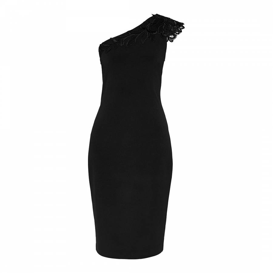 b2b99a64d61 Black Jalis Lace One Shoulder Dress - BrandAlley