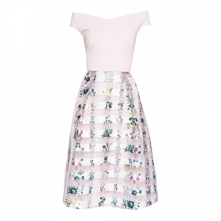 d13fdd640300 Pink Lulou Unity Floral Bardot Dress - BrandAlley
