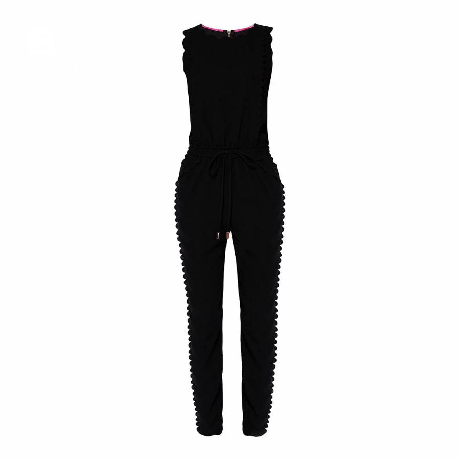 057a5599ebe Black Sippy Scallop Jumpsuit - BrandAlley