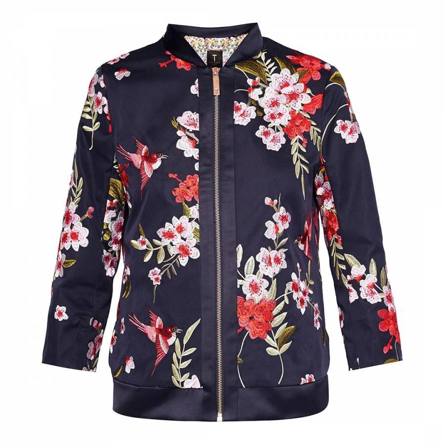 021d688bffa09 Hemma Bird and Blossom Bomber Jacket - BrandAlley