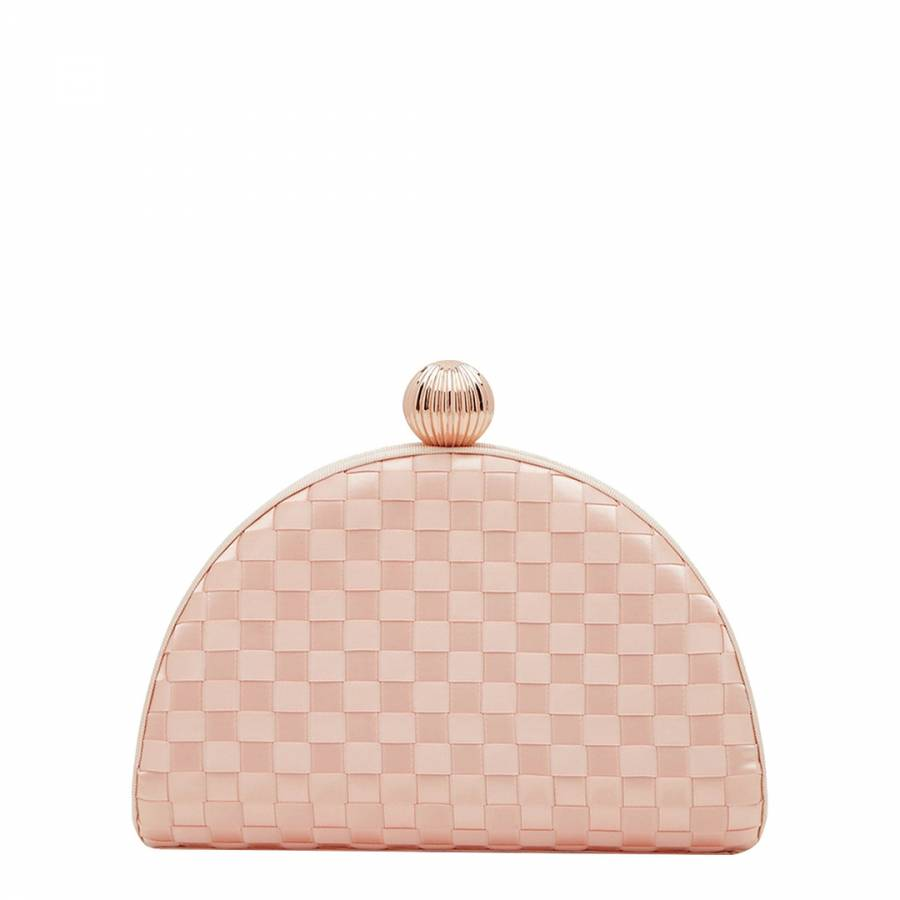 c5011253c1 Pale Pink Kyla Woven Clutch Bag - BrandAlley