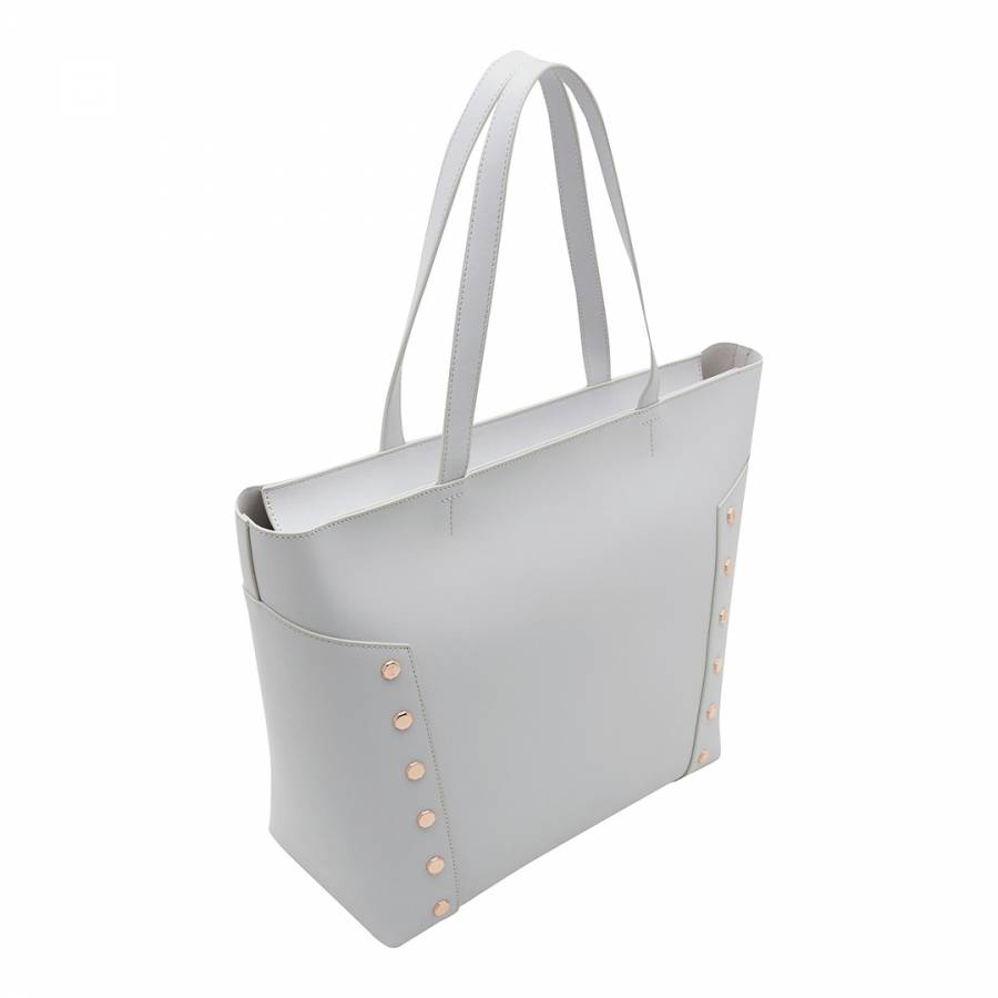d6930260e Light Grey Tamiko Studded Edge Shopper Bag - BrandAlley