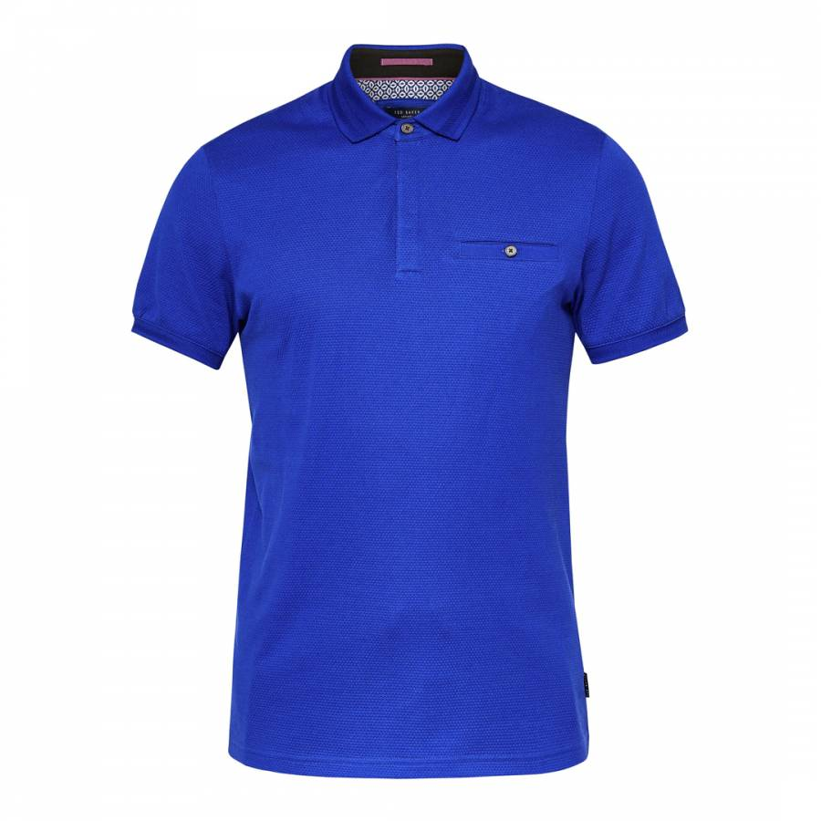 d19c1f9f26911 Bright Blue Cotton Witnay Textured Polo - BrandAlley