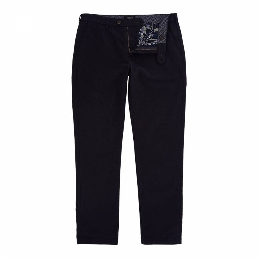 d87deb017dc720 Navy Koossic Classic Fit Brushed Trousers - BrandAlley