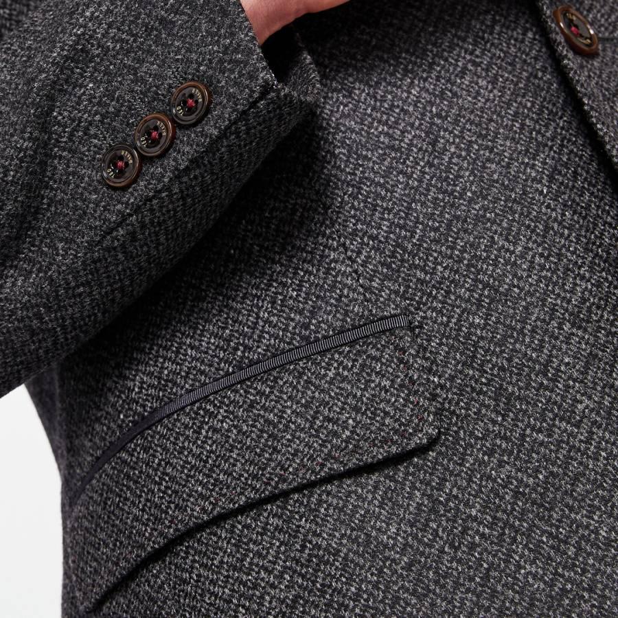 e3e858e2a370f6 Ted Baker Charcoal Glen Semi Plain Wool Blazer. prev
