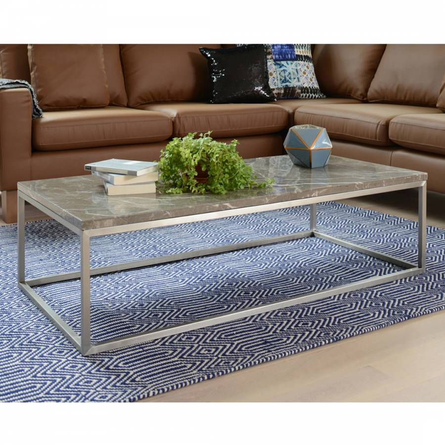 Dwell Coffee Table.Marble Rectangular Coffee Table Grey