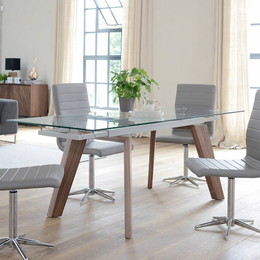 Panama Glass Extending Dining Table Brandalley