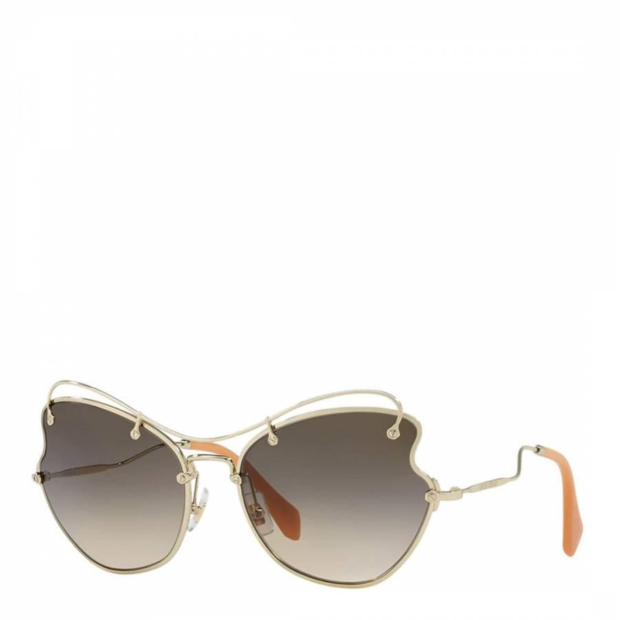 80a4c2e1e4b1 Women Pale Gold Light Brown Shaded Sunglasses 61mm - BrandAlley