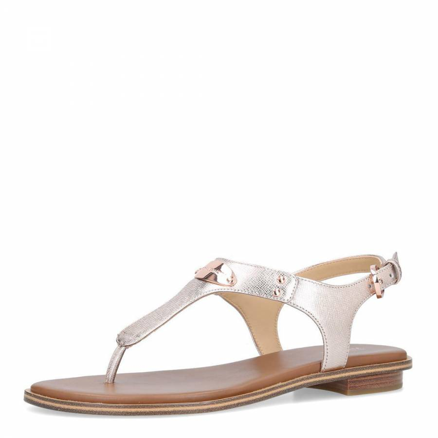 a8349d389 Rose Gold MK Plate Thong Sandals - BrandAlley