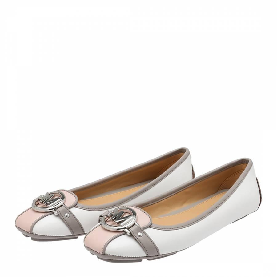 45a406e49 White Soft Pink Leather Fulton Mocassins - BrandAlley