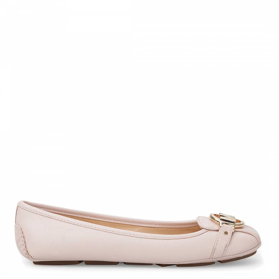 cd572f0b4 Soft Pink Saffiano Leather Fulton Mocassins - BrandAlley