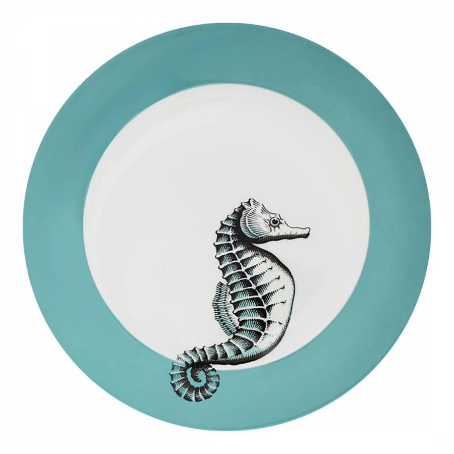 Neptune Set Of 6 Dinner Plates Seahorse Brandalley