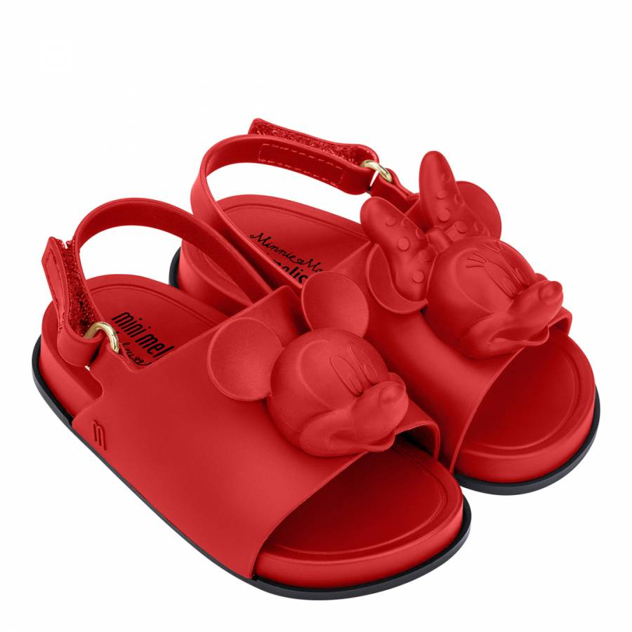 15efc559316d6 Mini Disney Beach Slide Red Matt C - BrandAlley