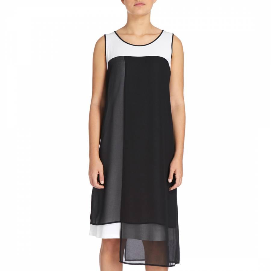 cb6f1a7a643 Black Sleeveless Crew Neck Asymmetric Dress - BrandAlley