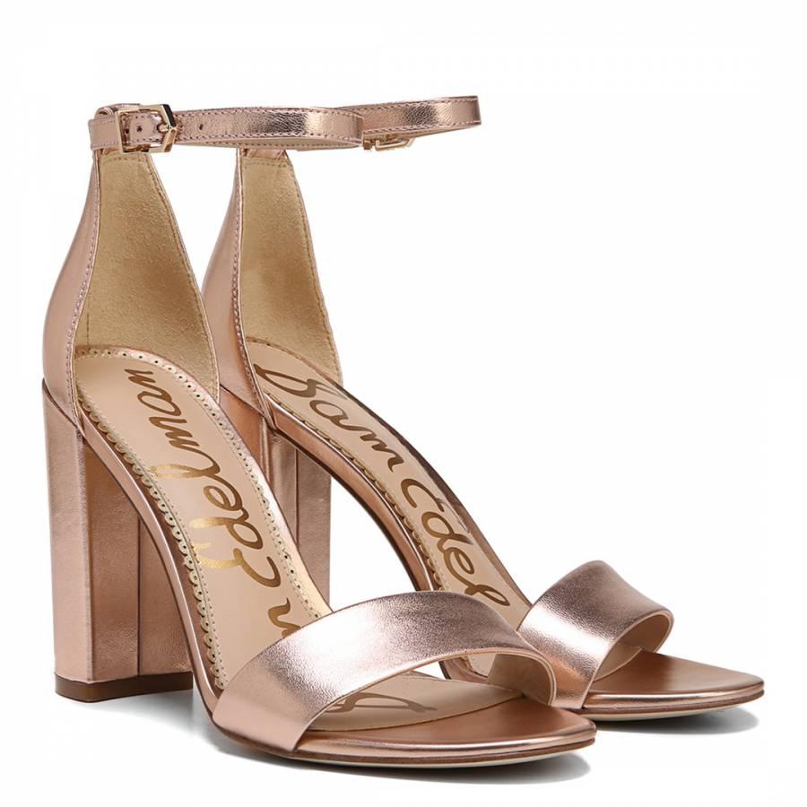 buy \u003e rose gold heeled sandals uk, Up
