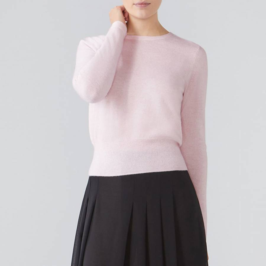 f0ba224126 Rose Mist Cashmere Cropped Sweater - BrandAlley
