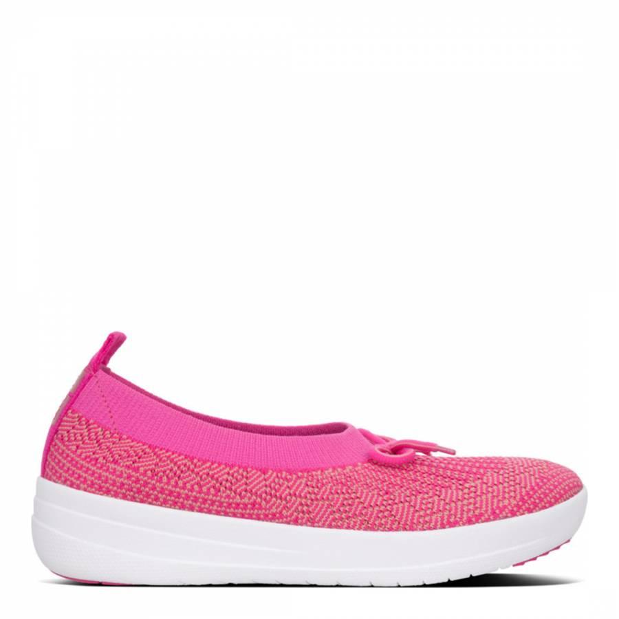 49f122f29 Pink Uberknit Bow Ballerinas - BrandAlley