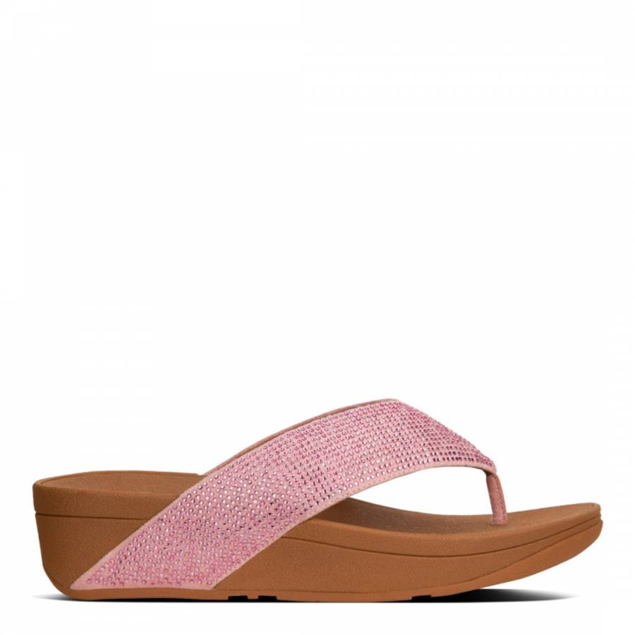 52274d2bdd31 Dusky Pink Ritzy Toe Thong Sandals - BrandAlley