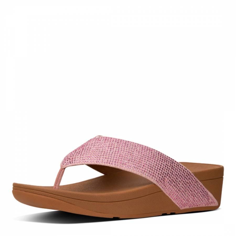 de57b09d1 Dusky Pink Ritzy Toe Thong Sandals - BrandAlley