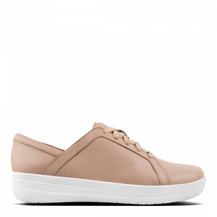 0ebd604444205c Nude F-Sporty Lace Up Leather Sneakers - BrandAlley