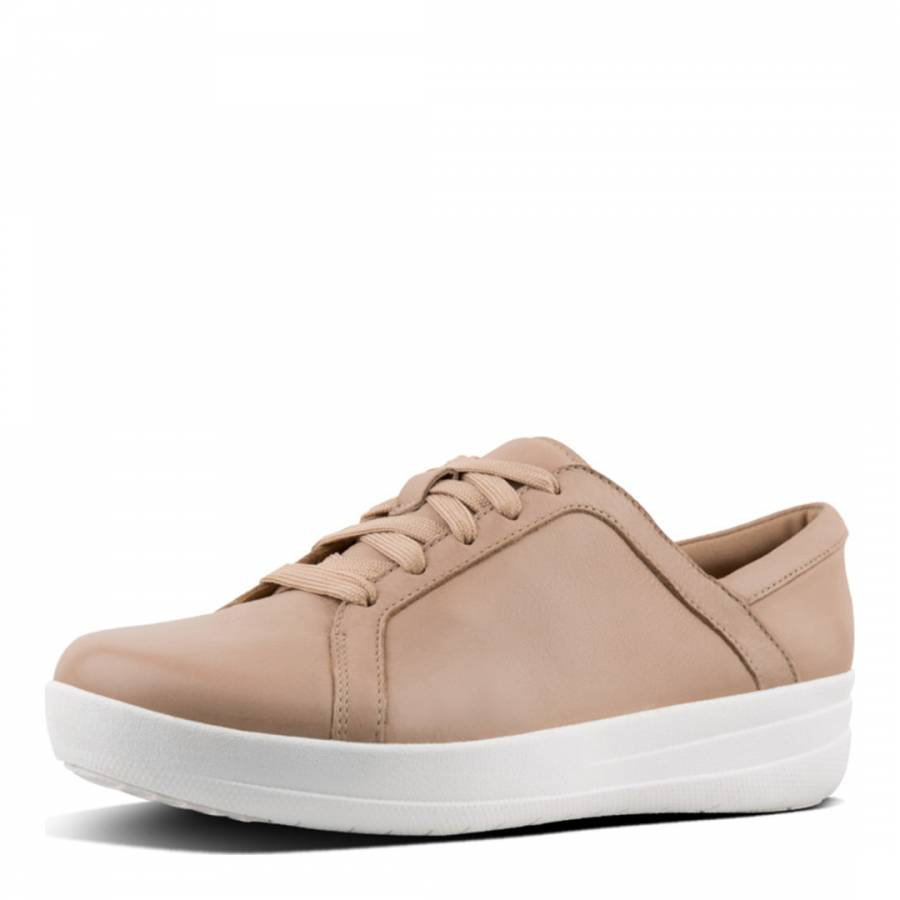 d74396c7a Nude F-Sporty Lace Up Leather Sneakers - BrandAlley