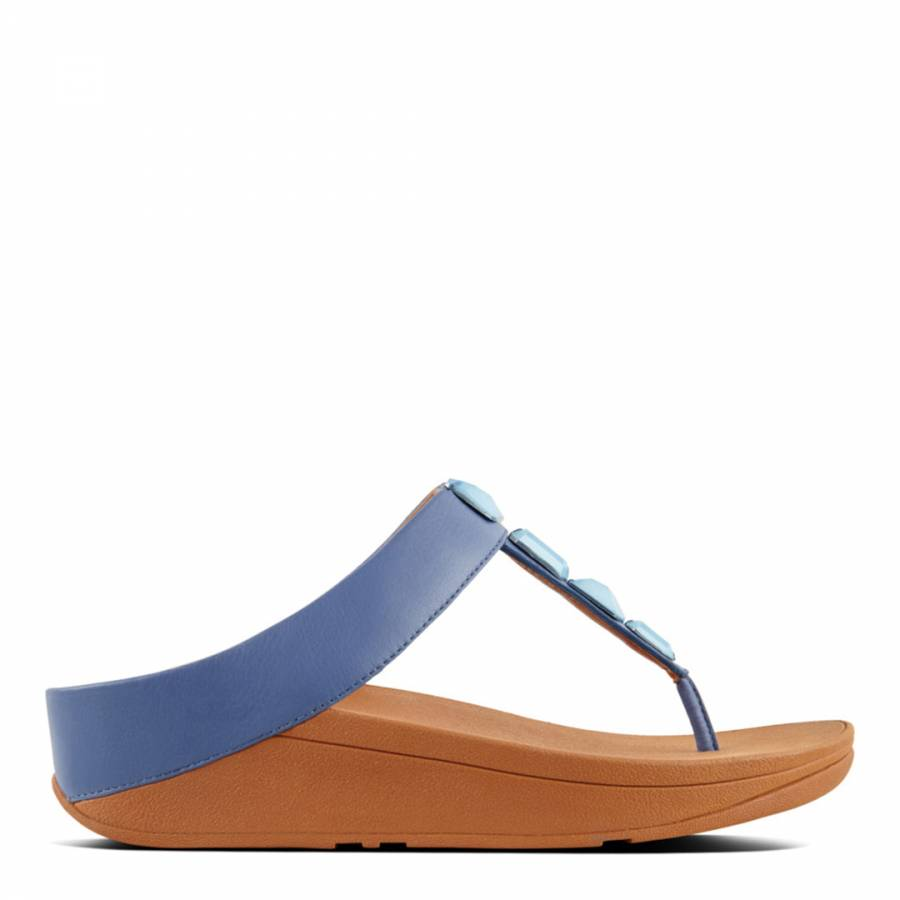 2354a250281f Indian Blue Leather Roka Sandals - BrandAlley