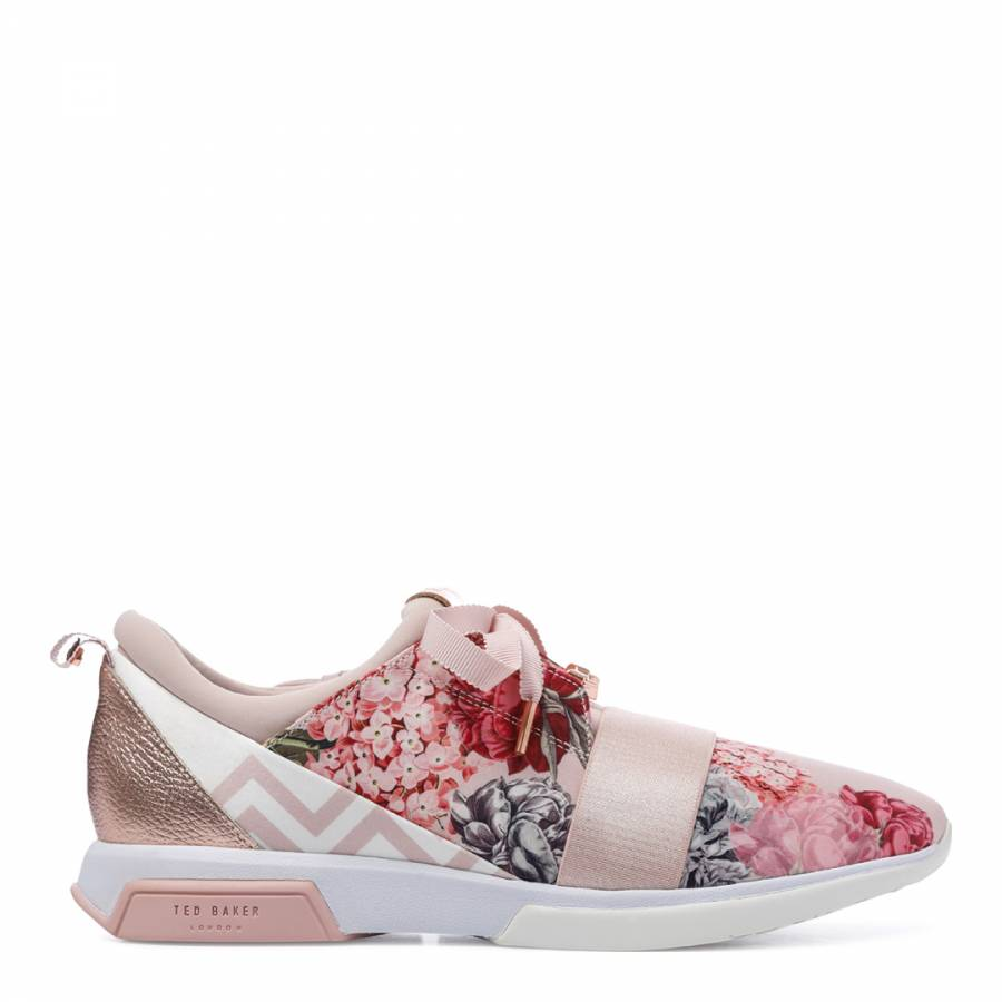 6e700f28a21c6f Pink Satin Cepap Palace Gardens Trainers - BrandAlley