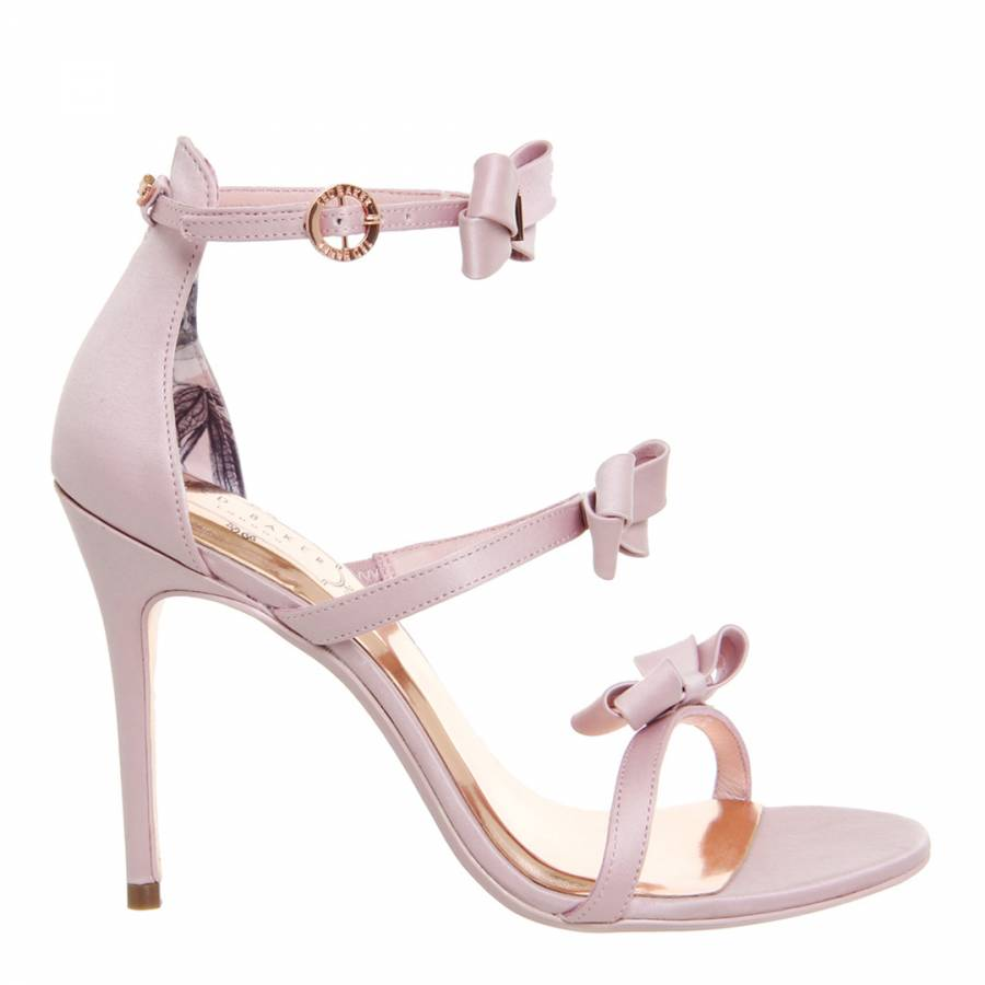efd185ee2c0 Light Pink Satin Nuscala Bow Stiletto Sandals - BrandAlley