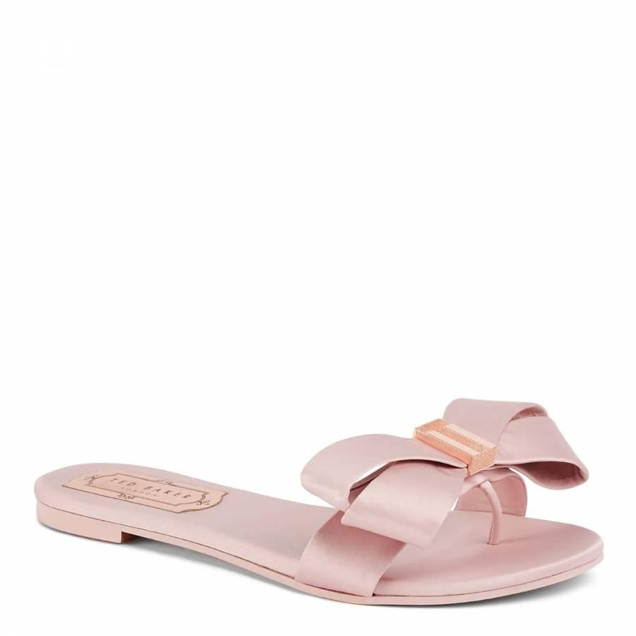 dfcd989eca9f Pink Satin Beauita Statement Bow Sandals - BrandAlley