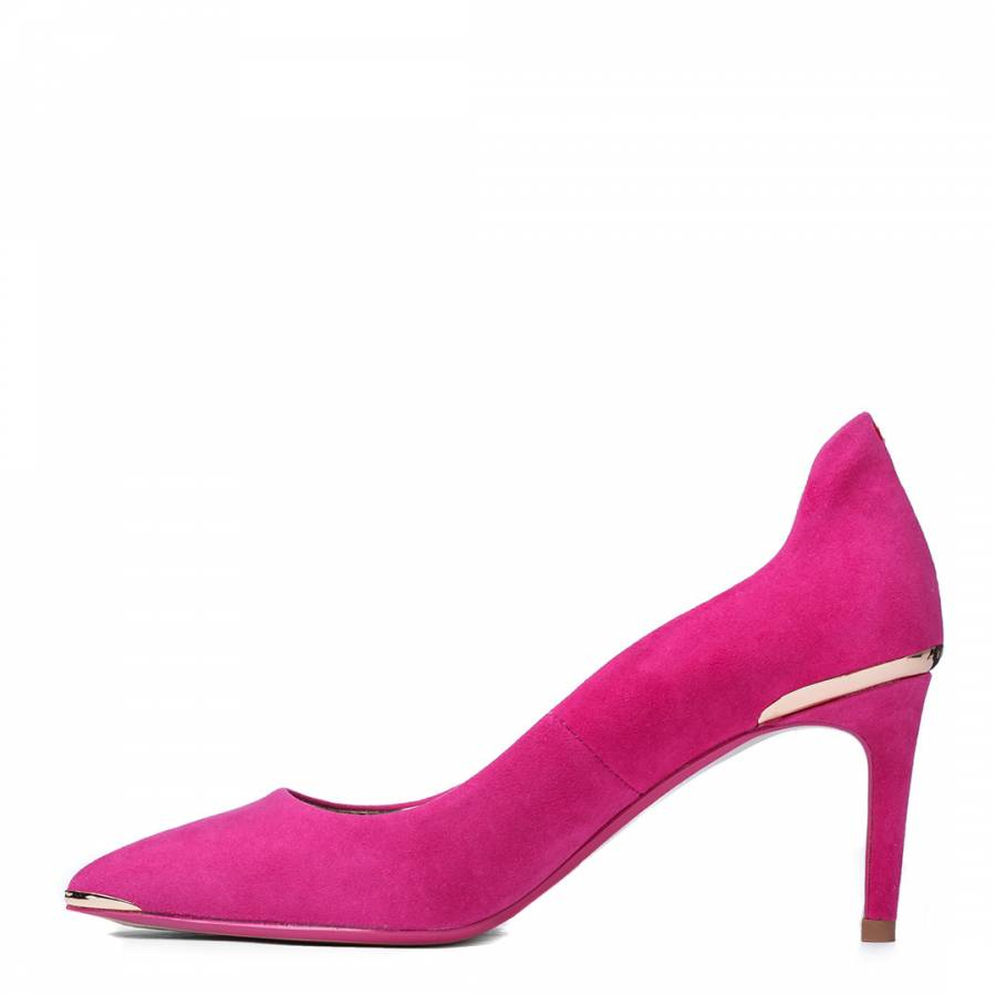 9bc2259a5 Pink Suede Vyixyns Stiletto Court Shoes - BrandAlley