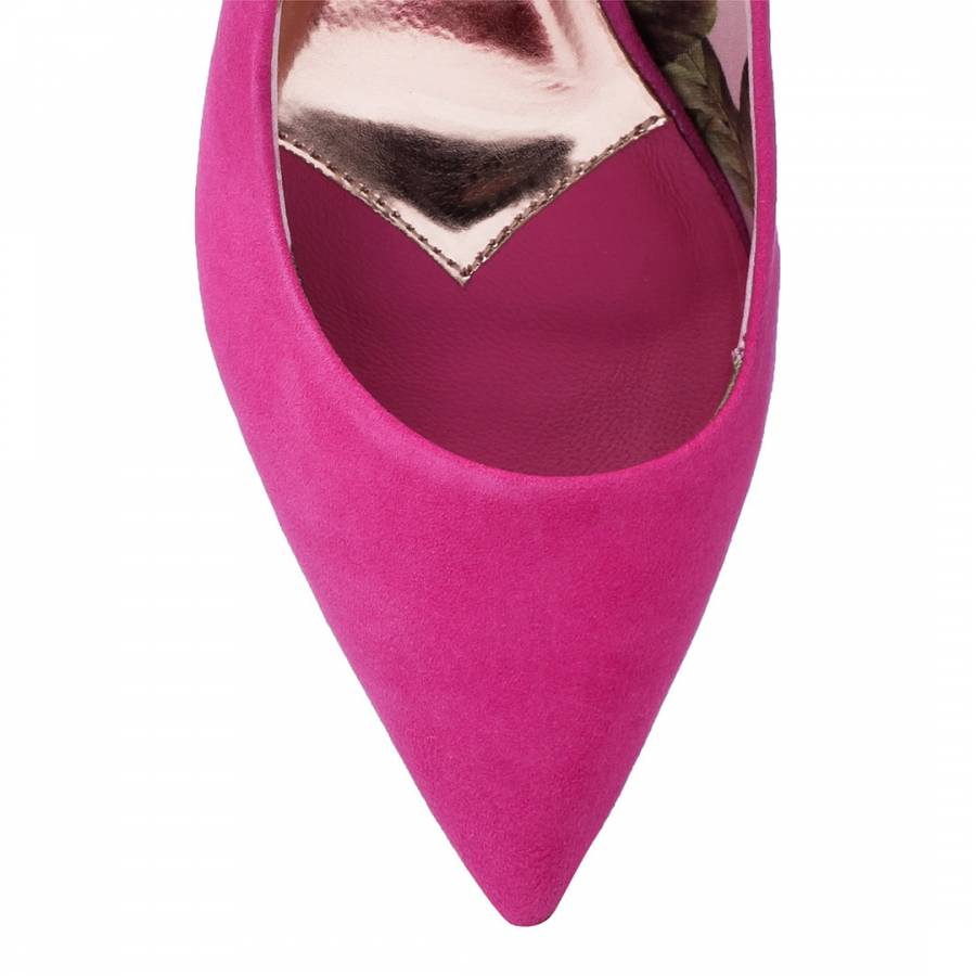 52f7a1213 TED BAKER Pink Suede Vyixyns Stiletto Pointed toe Slip on Heel Court ...
