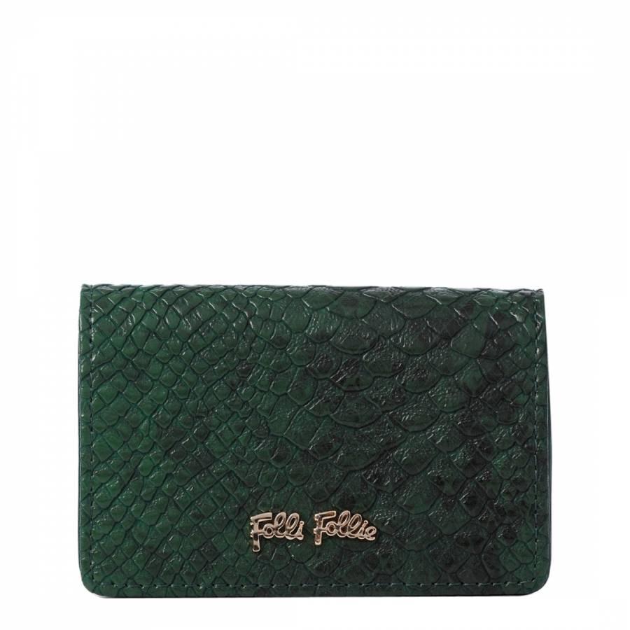b8144a643956 Folli Follie Green Reptile Card Holder