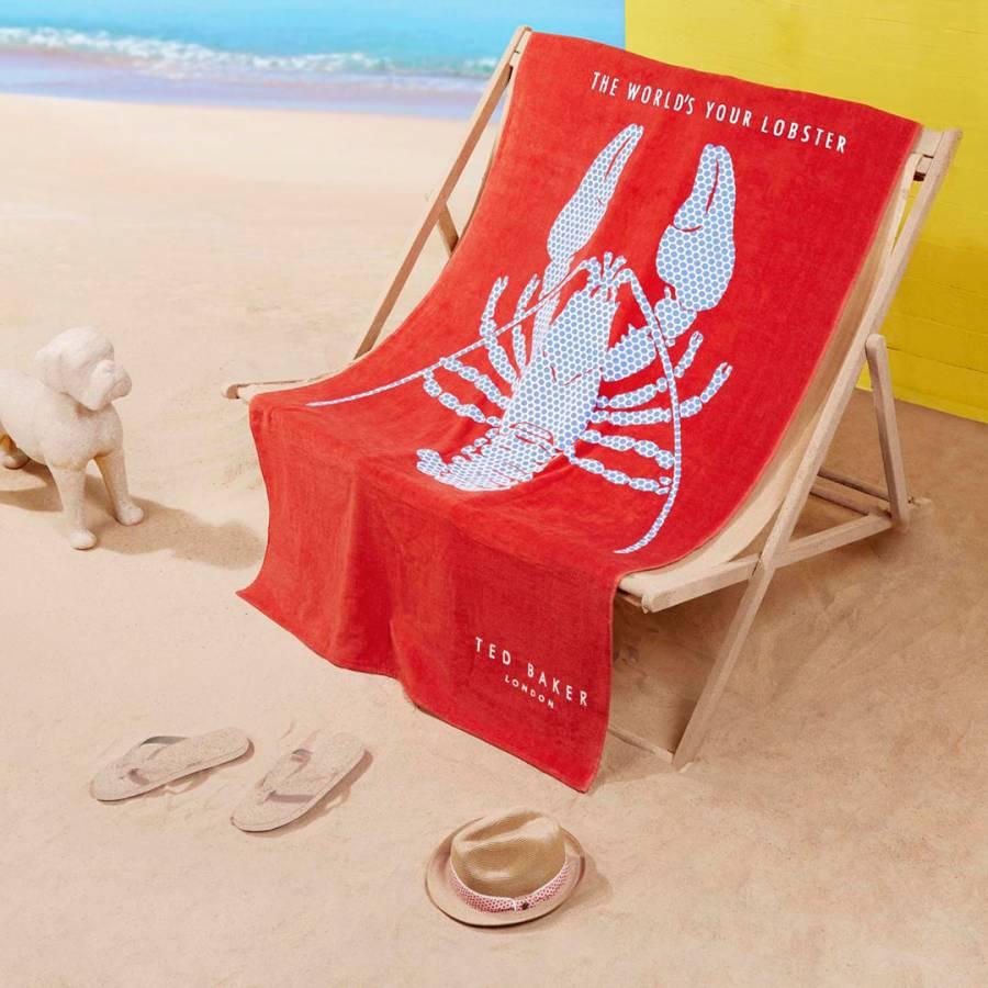 cb7db5385dcb31 Red Lobster Beach Towel - BrandAlley
