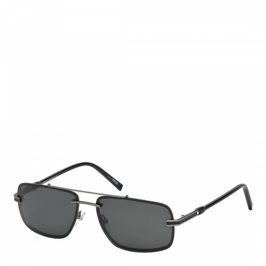 15c4ee0f9f432 Zoom · Montblanc Black Black Men s Mont Blanc Sunglasses