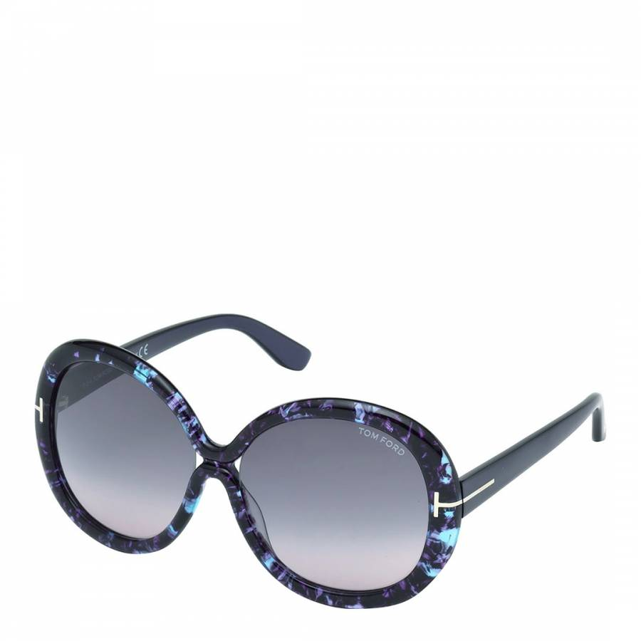 19289ae411 Women s Purple with Marble Effect Giselle Sunglasses 58mm