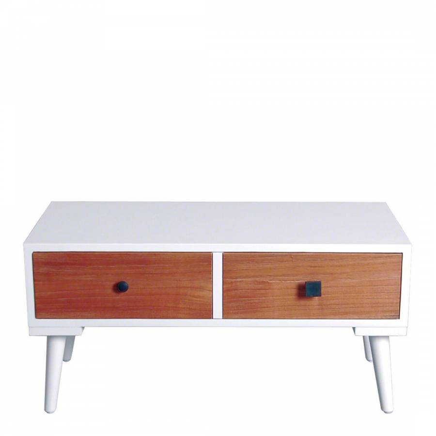 Aparte Side Table.Vanilla 1 Drawer Retro Side Table Brandalley
