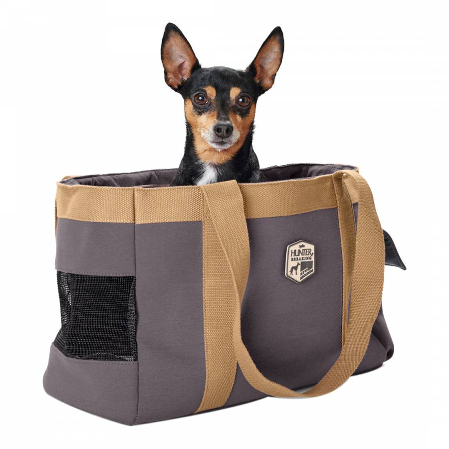 HUNTER Pet UK Grey Perth Carrier With Poop Bag Case 38x19x26 cm