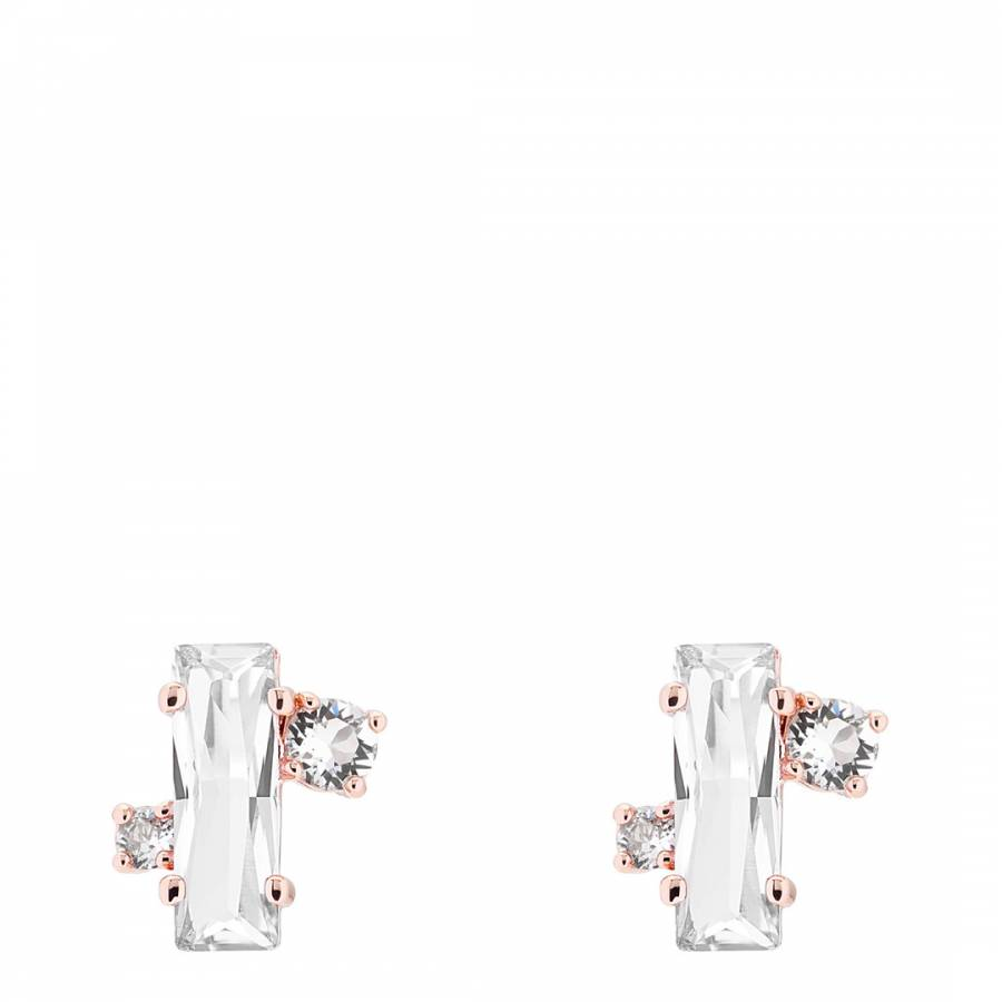 ad30c6d14a9d6 Ted Baker Rose Gold Bria Crystal Baguette Cluster Stud Earring