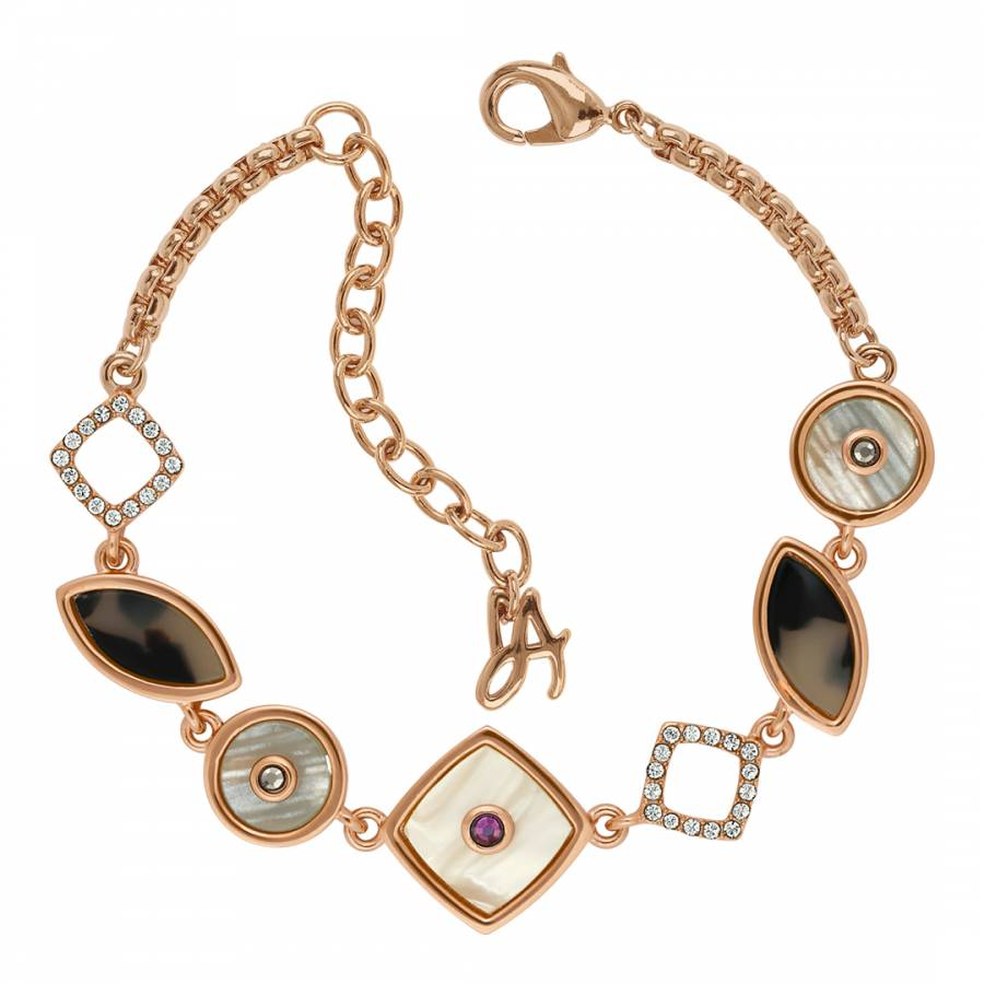 410ecf990 Rose Gold Plated Swarovski Resin Cluster Slide Bracelet - BrandAlley