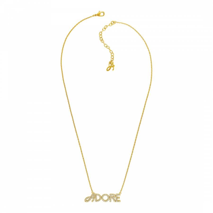 2a786a85f Adore Jewellery with Swarovski® Crystals Gold Plated Swarovski Adore Pave  Logo Necklace