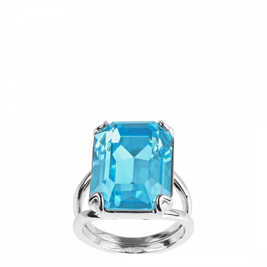 641cdd83b Adore Jewellery with Swarovski® Crystals Rhodium Plated Swarovski Emerald  Cut Ring