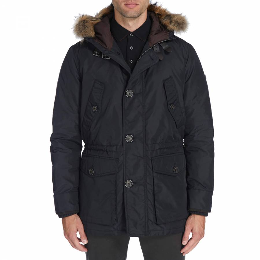 9402276dd Navy Arctic Parka Coat - BrandAlley