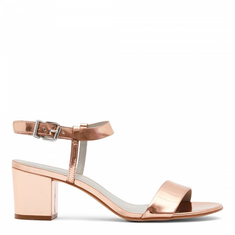 c9b2f99efd26 Rose Gold Vivi Low Heel Sandals - BrandAlley