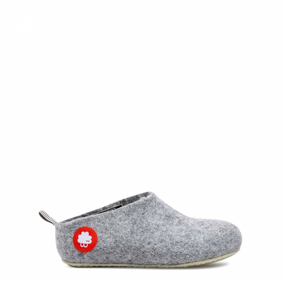 958bbba3a Kids Light Grey Wool Gus Slippers - BrandAlley
