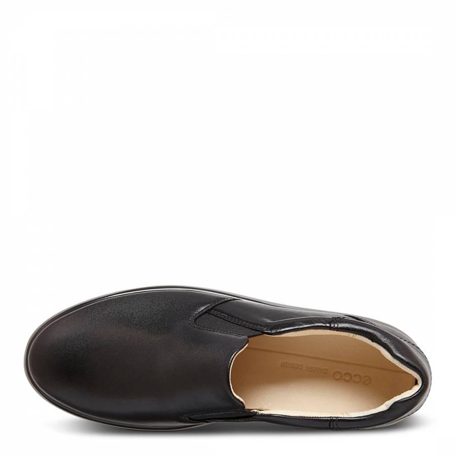 d9aa709aa Black Leather Soft 9 Roxy Plimsolls - BrandAlley