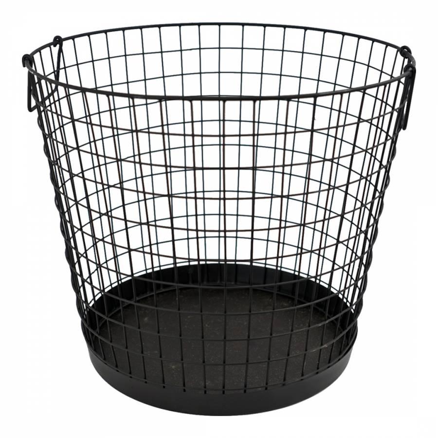Black iron wire log basket brandalley