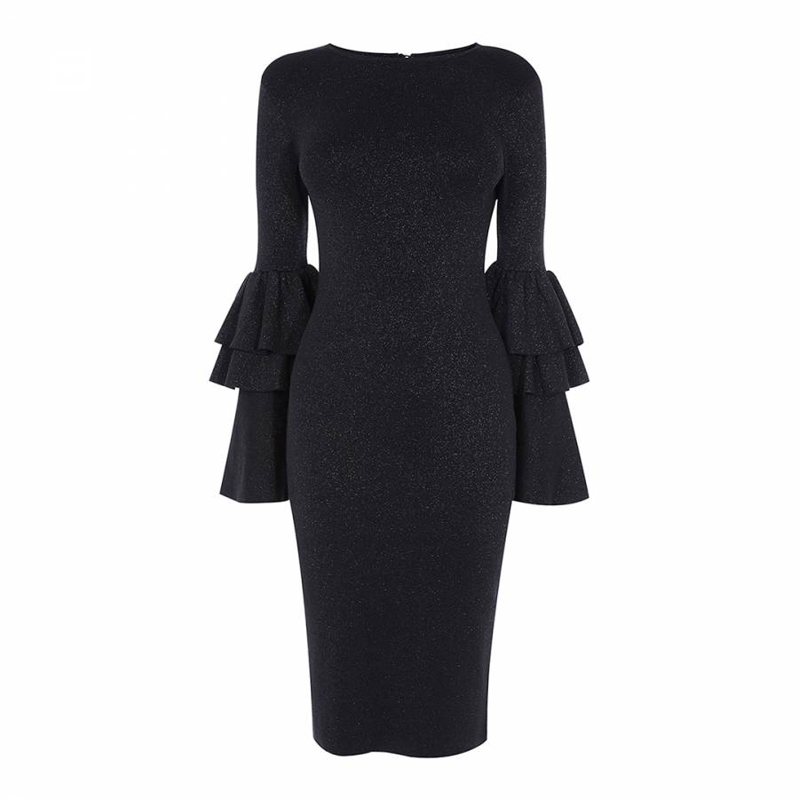 3f1107395e6 Black Alessa Sparkle Knit Dress - BrandAlley